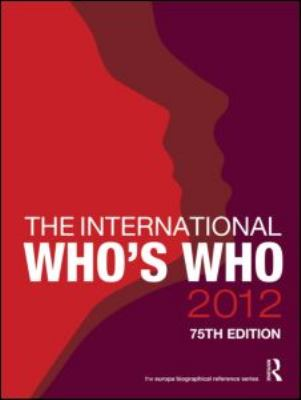 The International Who's Who 9781857436075
