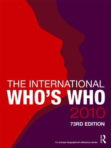 The International Who's Who 2010 9781857435108