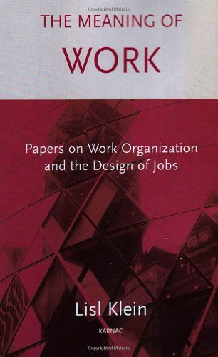 The Meaning of Work: Papers on Work Organization and the Design of Jobs 9781855753488