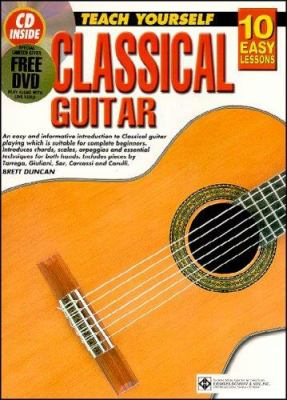 10 Easy Lessons Classical Guitar Bk/CD/DVD 9781864691474