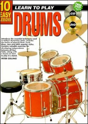 10 Easy Lessons Drums Bk/CD/DVD 9781864691085
