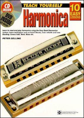 10 Easy Lessons Harmonica Bk/CD/DVD 9781864691108