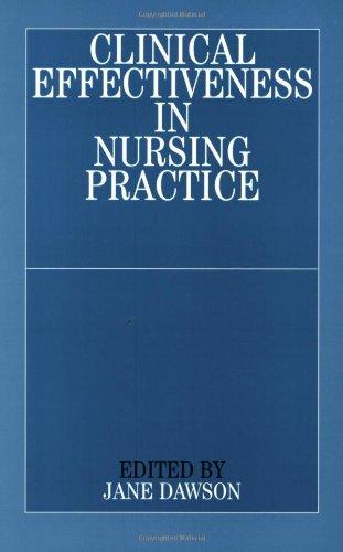 Clinical Effectiveness in Nursing Practice 9781861561831
