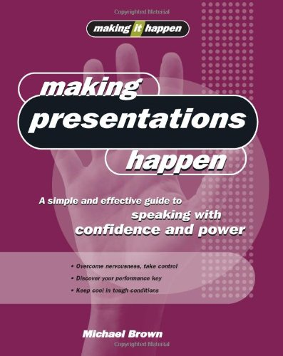Making Presentations Happen: A Simple and Effective Guide to Speaking with Confidence and Power 9781865089584
