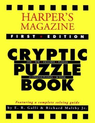 Harper's Magazine Cryptic Puzzle Book, 1st Edtion 9781879957053