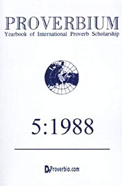 Proverbium: Yearbook of International Proverb Scholarship 9781875943289