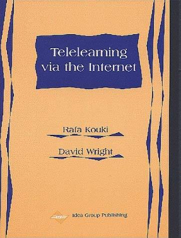 Telelearning Via the Internet 9781878289537