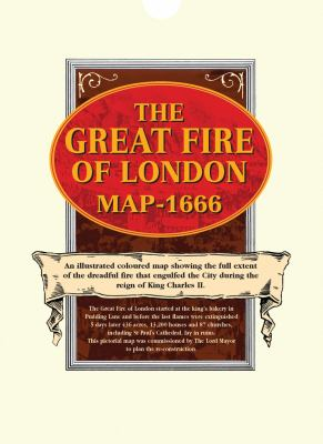 The Great Fire of London Map - 1666