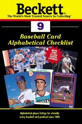 Beckett Baseball Card Alphabetical Checklist 9781887432771