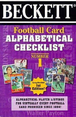 Beckett Football Card Alphabetical Checklist 9781887432320