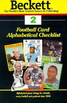 Beckett Football Card Alphabetical Checklist 9781887432412