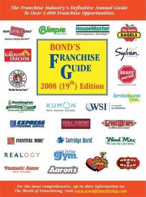 Bond's Franchise Guide 9781887137591