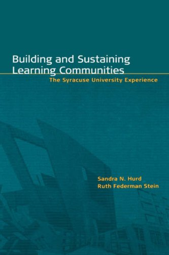 Building and Sustaining Learning Communities: The Syracuse University Experience 9781882982684