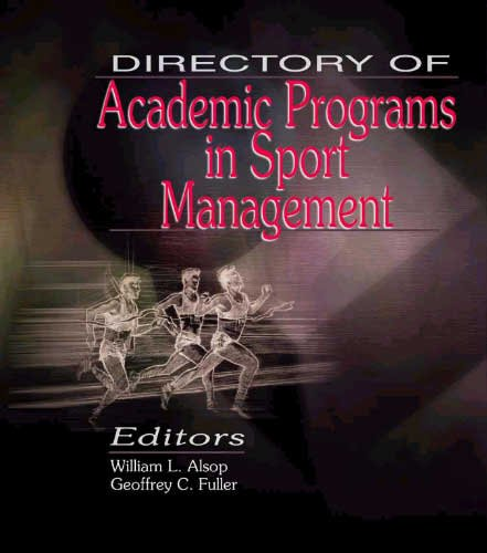Directory of Academic Programs in Sport Management 9781885693235