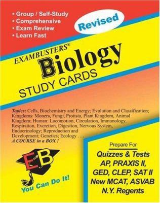 Exambusters Biology Study Cards: A Whole Course in a Box 9781881374947