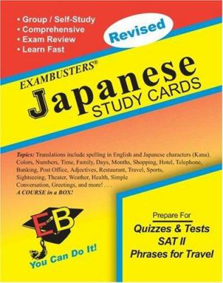 Exambusters Japanese Study Cards: A Whole Course in a Box 9781881374961