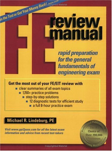 FE Review Manual: Rapid Preparation for the General Fundamentals of Engineering Exam 9781888577532