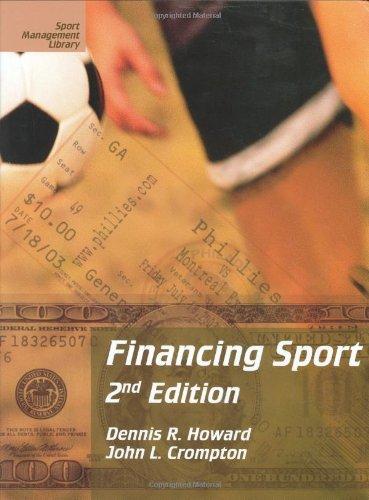 Financing Sport 9781885693389