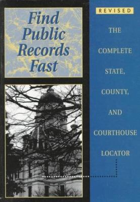 Find Public Records Fast 9781889150048