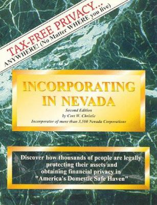 Incorporating in Nevada 2nd Ed 9781882180851