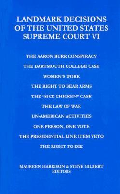 Landmark Decisions of the United States Supreme Court VI 9781880780213