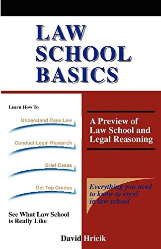 Law School Basics 9781889057064