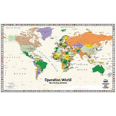 Operation World: 6th Edition Folded Map (2001 Update) 9781884543616
