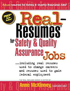 Real-Resumes for Safety & Quality Assurance Jobs 9781885288455