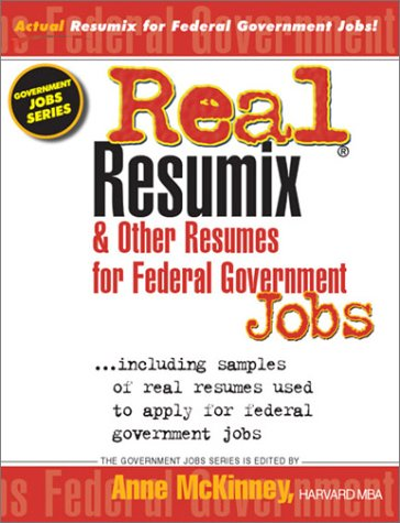 Real Resumix & Other Resumes for Federal Government Jobs 9781885288356