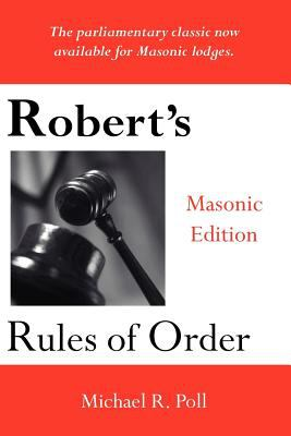 Robert's Rules of Order - Masonic Edition 9781887560078