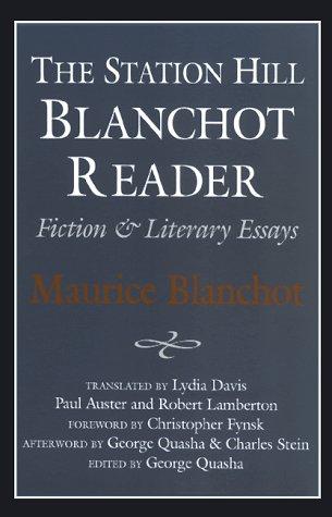 Station Hill Blanchot Reader 9781886449176