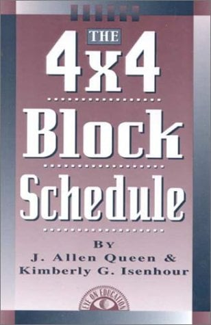 The 4x4 Block Schedule 9781883001568