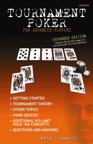 Tournament Poker for Advanced Players 9781880685419