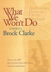 What We Won't Do: Stories 7699151