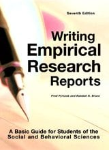 Writing Empirical Research Reports: A Basic Guide for Students of the Social and Behavioral Sciences 9781884585975