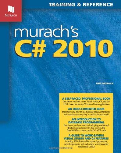 Murach's C# 2010 9781890774592