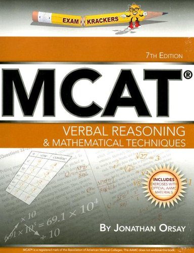 ExamKrackers MCAT Verbal Reasoning & Mathematical Techniques 9781893858480