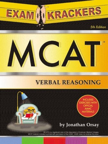 Examcrackers MCAT Verbal Reasoning and Math 9781893858350