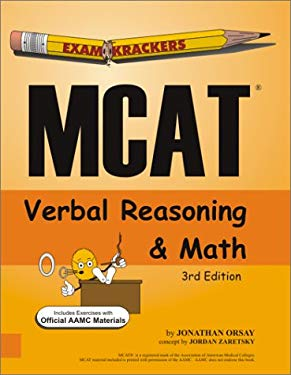 Examkrackers MCAT Verbal Reasoning and Math 9781893858176
