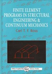 Finite Element Programs in Structural Engineering and Continuum Mechanics 7736442