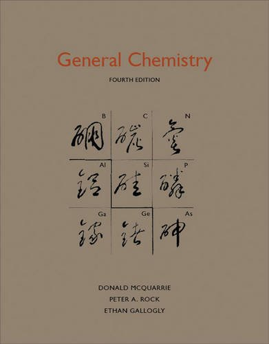 General Chemistry Fourth Edition Mcquarrie Rock Gallogly Funeral Homes