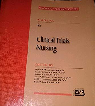 Manual for Clinical Trials Nursing 9781890504120