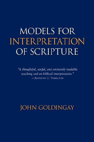 Models for Interpretation of Scripture 9781894667401