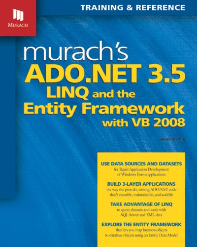Murach's ADO.NET 3.5, LINQ, and the Entity Framework with VB 2008 9781890774523