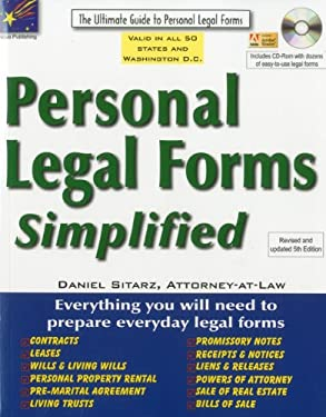 Personal Legal Forms Simplified: The Ultimate Guide to Personal Legal Forms [With CDROM] 9781892949615