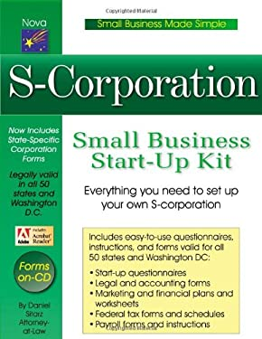 S-Corporation Small Business Start-Up Kit [With CDROM] 9781892949363