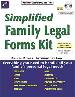 Simplified Family Legal Forms Kit: The Ultimate Guide to Family Legal Forms 9781892949578