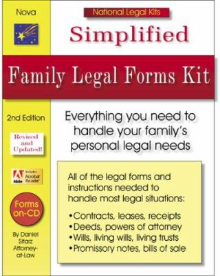 Simplified Family Legal Forms Kit [With CDROM] 9781892949417