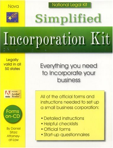 Simplified Incorporation Kit [With CDROM and Official Forms, Checklists, Questionnaires] 9781892949332