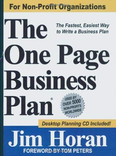 The One Page Business Plan: The Fastest, Easiest Way to Write a Business Plan! [With CDROM] 9781891315022